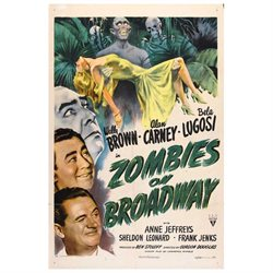 Zombies on Broadway Poster Movie 27 x 40 In - 69cm x 102cm Wally Brown Alan Carney Bela Lugosi Anne Jeffreys