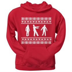 Zombie Ugly Christmas Sweater Red Adult Pullover Hoodie
