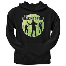 St. Patricks Day - The Walking Drunk Black Adult Hoodie
