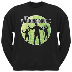 St. Patricks Day - The Walking Drunk Black Adult Sweatshirt