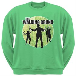 St. Patricks Day - The Walking Drunk Irish Green Adult Sweatshirt