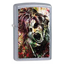 Zombie Street Chrome Zippo Lighter *Free Engraving on Backside