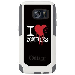 CUSTOM White Commuter Series Case (77-52994) for Samsung Galaxy S7 - I Heart Zombies