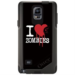 CUSTOM OtterBox Commuter Series Case (77-50469) for Samsung Galaxy Note 4 - I Heart Zombies