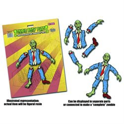 Zombie Body Parts Refrigerator Magnet Set