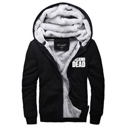 Walking Dead Hoodie Winter Jackets and Coats The Walking Dead Zip Up Hoodie For Men Size XL