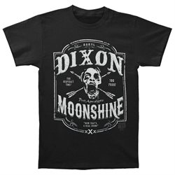 Walking Dead Men's Dixon Moonshine T-shirt X-Large Black