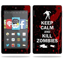 Mightyskins Protective Vinyl Skin Decal Cover for Amazon Kindle Fire HD 7 (2nd Gen 2014) wrap sticker skins Kill Zombies