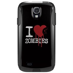 CUSTOM OtterBox Commuter Series Case (77-27604) for Samsung Galaxy S4 - I Heart Zombies