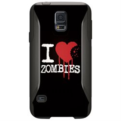 CUSTOM OtterBox Commuter Series Case (77-39174) for Samsung Galaxy S5 - I Heart Zombies