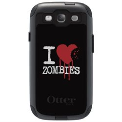 CUSTOM OtterBox Commuter Series Case (77-21092) for Samsung Galaxy S3 - I Heart Zombies