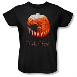 Trick 'R Treat Horror Zombie Comedy Movie Pumpkin Women's T-Shirt Tee