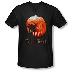 Trick 'R Treat Horror Zombie Comedy Movie Pumpkin Adult V-Neck T-Shirt Tee