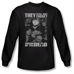 Shaun Of The Dead Zombie Comedy Movie Still Out There Adult Long Sleeve T-Shirt