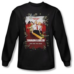 Shaun Of The Dead Zombie Comedy Movie Poster Adult Long Sleeve T-Shirt