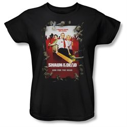 Shaun Of The Dead Zombie Comedy Movie Poster Women's T-Shirt Tee