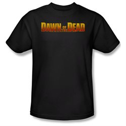 Dawn Of The Dead Science Fiction Zombie Movie Dawn Logo Adult T-Shirt Tee