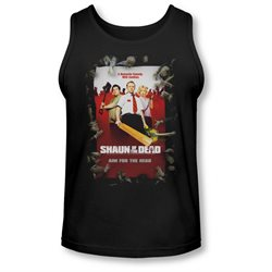Shaun Of The Dead Zombie Comedy Movie Poster Adult Tank Top Shirt
