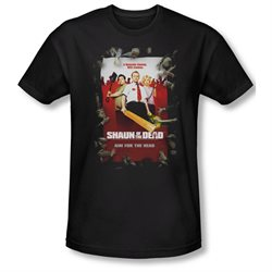 Shaun Of The Dead Zombie Drama Comedy Movie Poster Adult Slim T-Shirt Tee