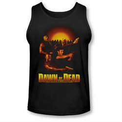 Dawn Of The Dead Science Fiction Zombie Movie Dawn Collage Adult Tank Top Shirt