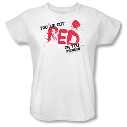 Shaun Of The Dead Zombie Comedy Movie Red On You Women's T-Shirt Tee