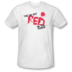 Shaun Of The Dead Zombie Drama Comedy Movie Red On You Adult Slim T-Shirt Tee