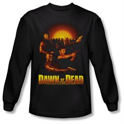 Dawn Of The Dead Sci-Fi Zombie Movie Dawn Collage Adult Long Sleeve T-Shirt