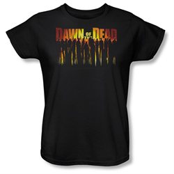 Dawn Of The Dead Science Fiction Zombie Movie Walking Dead Women's T-Shirt Tee