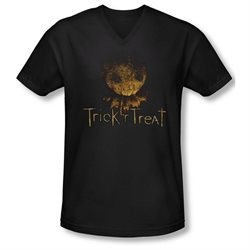 Trick 'R Treat Horror Zombie Comedy Movie Logo Adult V-Neck T-Shirt Tee