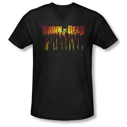 Dawn Of The Dead Sci-Fi Zombie Movie Walking Dead Adult V-Neck T-Shirt Tee