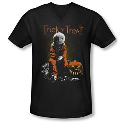 Trick 'R Treat Horror Zombie Comedy Movie Sitting Sam Adult V-Neck T-Shirt Tee