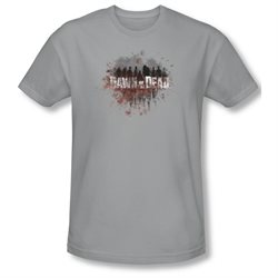 Dawn Of The Dead Sci-Fi Zombie Movie Creeping Shadows Adult Slim T-Shirt Tee
