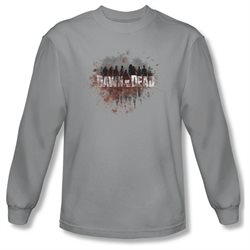Dawn Of The Dead Sci-Fi Zombie Movie Creeping Shadows Adult Long Sleeve T-Shirt