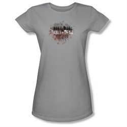 Dawn Of The Dead Sci-Fi Zombie Movie Creeping Shadows Juniors Sheer T-Shirt Tee