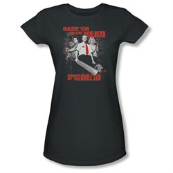 Shaun Of The Dead Zombie Comedy Movie Bash Em Juniors Sheer T-Shirt Tee