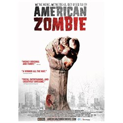 American Zombie Poster Movie 11 x 17 In - 28cm x 44cm Austin Basis Roger Ainslie Andrew Amondson Alice Amter