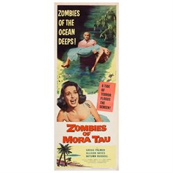 Zombies of Mora Tau Poster Movie Insert 14 x 36 In - 36cm x 92cm Gregg Palmer Allison Hayes Autumn Russell Joel Ashley Morris Ankrum Marjorie Eaton