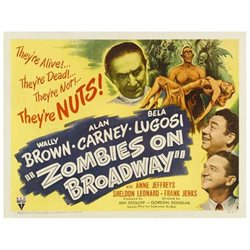 Zombies on Broadway Poster Movie B 22 x 28 In - 56cm x 72cm Wally Brown Alan Carney Bela Lugosi Anne Jeffreys