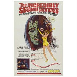 The Incredibly Strange Creature: Or Why I Stopped Living and Became a Mixed-up Zombie Poster Movie 27 x 40 In - 69cm x 102cm Ray Dennis Steckler Carolyn Brandt Brett O'Hara Atlas King Sharon Walsh