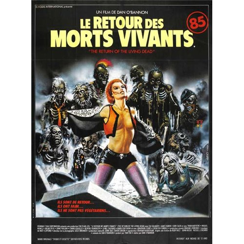 The Return of the Living Dead Poster Movie French (27 x 40 Inches - 69cm x 102cm ) Clu Gulager James Karen Linnea Quigley Don Calfa Jewel Shepard