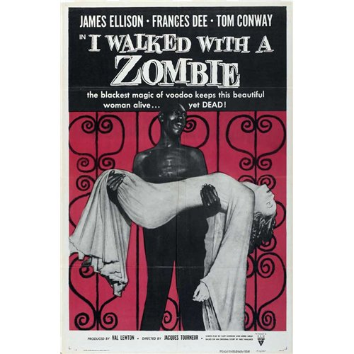 I Walked With a Zombie Poster Movie B 27 x 40 In - 69cm x 102cm Frances Dee Tom Conway James Ellison Christine Gordon Edith Barrett Darby Jones