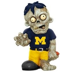 NCAA Zombie Figurine, University of Michigan Wolverines, Multi-Colored, Figurines, Contemporary