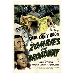 Zombies on Broadway Movie Poster (11 x 17)