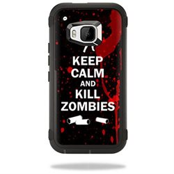 MightySkins Protective Vinyl Skin Decal for Otterbox Defender HTC One M9 Case wrap cover sticker skins Kill Zombies