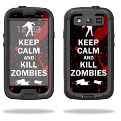 Mightyskins Protective Vinyl Skin Decal Cover for LifeProof Samsung Galaxy S III S3 Case fre wrap sticker skins Kill Zombies