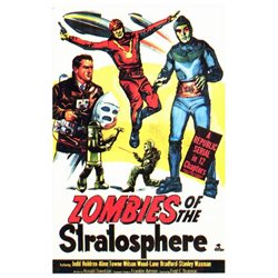 Zombies of the Stratosphere 11x17 Mini Movie Poster