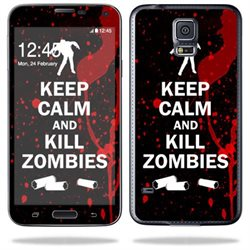 Mightyskins Protective Vinyl Skin Decal Cover for Samsung Galaxy S5 Cell Phone wrap sticker skins Kill Zombies