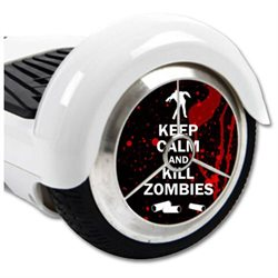 MightySkins Protective Vinyl Skin Decal for Hover Balance Board Scooter Wheels mini board unicycle bluetooth wrap cover sticker Kill Zombies
