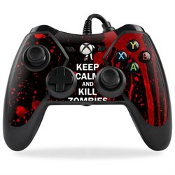 MightySkins Protective Vinyl Skin Decal for PowerA Pro Ex Xbox One Controller case wrap cover sticker skins Kill Zombies