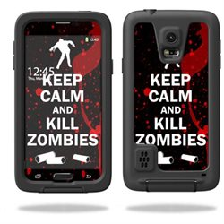 Mightyskins Protective Vinyl Skin Decal Cover for LifeProof Samsung Galaxy S5 Case fre wrap sticker skins Kill Zombies